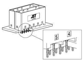 Wire to Board /  JFA J-PF3 press fit type - Schema